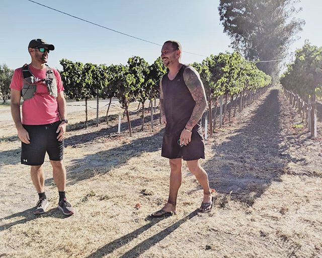 Grapes and good friends making this last stretch a little easier. To run with Christian in San Francisco, or to donate, check out the link in our bio.
