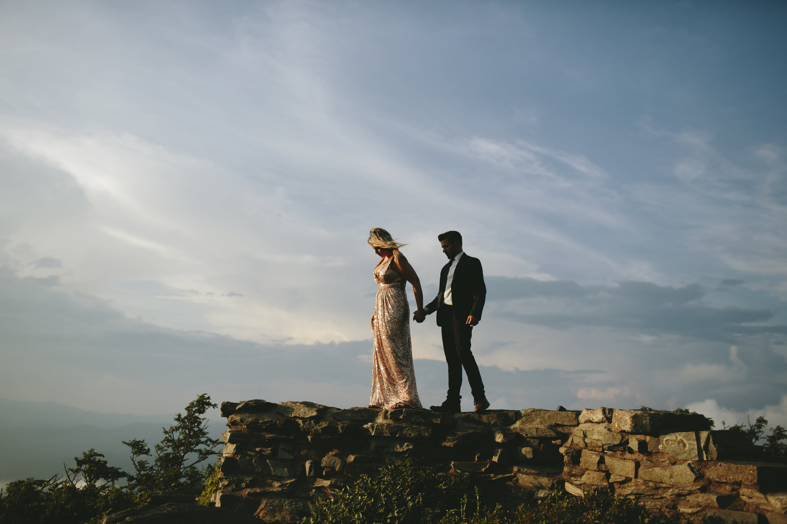 Christina and Blaise Foret. Asheville, North Carolina. Photo by MoringWild Photography.