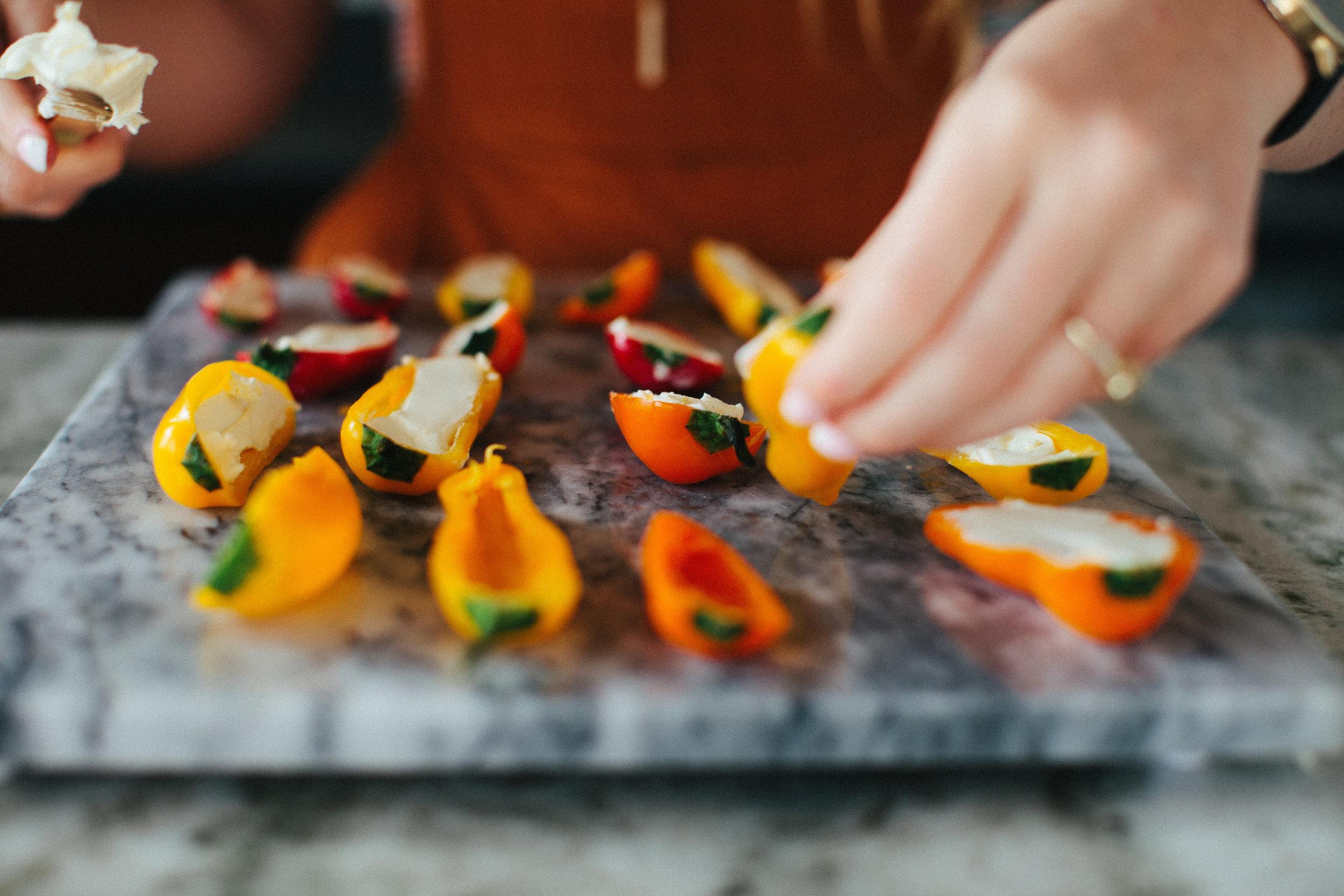 Stuffed Sweet Pepper Poppers Recipe - Keto Friendly