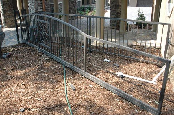 Aluminum Slide Gate Bottom Track Kit