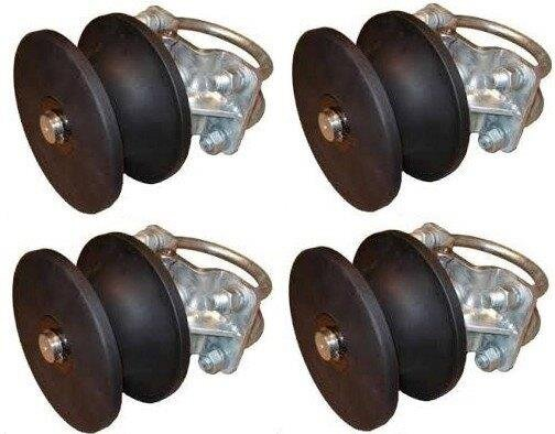 """NEW Nylon Cantilever Slide Gate Roller Wheel # CR-704-RR 4/"""" Round Post"""