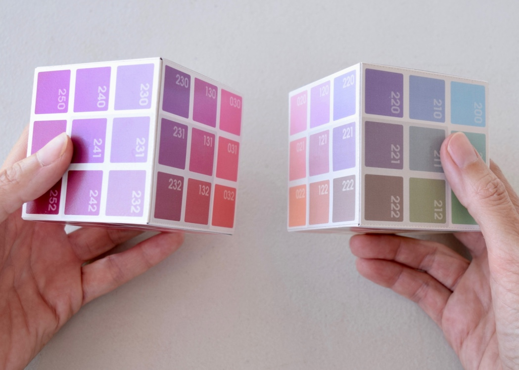 the 'inside' of the Magenta Corner (l) and the White Corner (r)