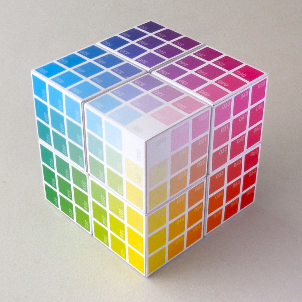 The  BreakThroughColour  Colour Cube   |   a 3D model to complement the 216 Colour Cards in the  BTC  deck