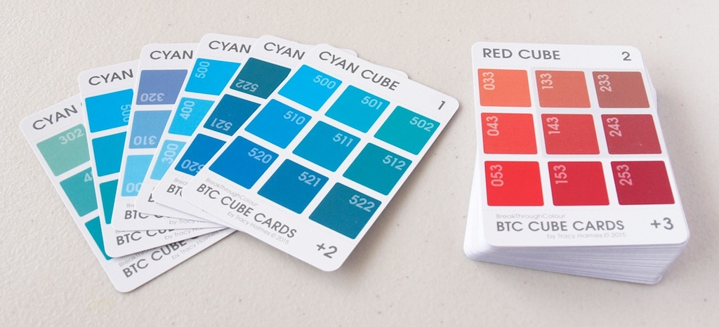BTC  Cube Cards   |   a set of 6 Cube Cards for each 6-sided Colour Cube