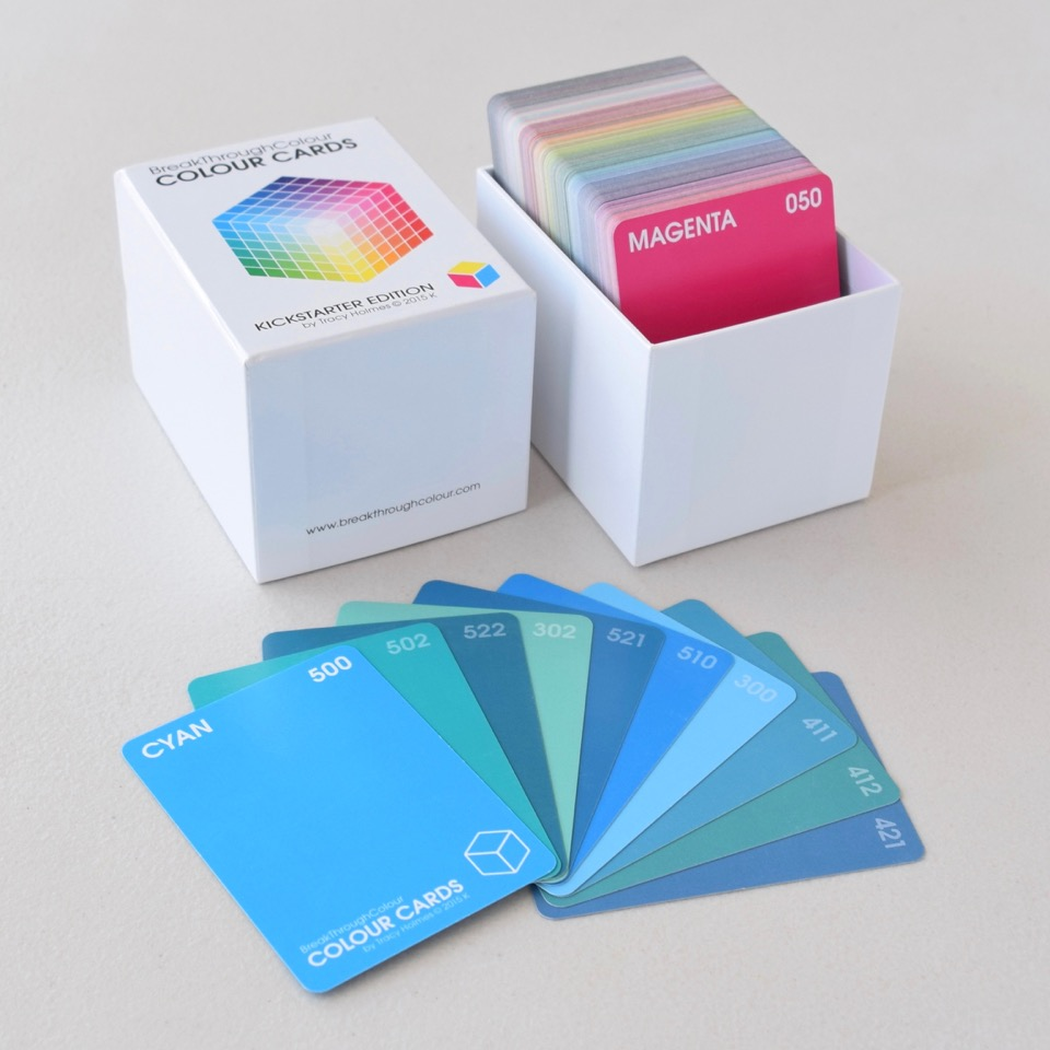 the  BreakThroughColour  boxed set, with a sampling of Cyan