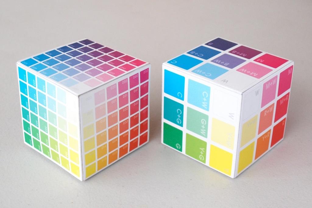 BTC Mini Colour Cube  and   Colour Basics  Colour Cube  | 3D models for 3D colour