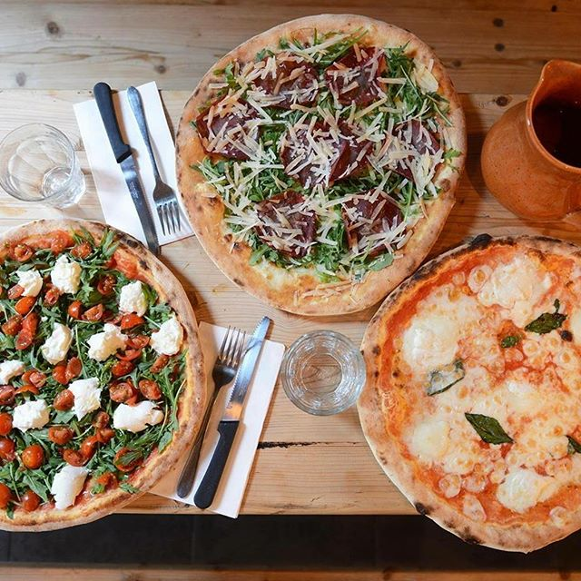 Our pizza's!  We pride ourselves on serving only the best quality authentic Italian, come in and try our award winning pizza & fresh made pasta! 🍕#woodfiredpizza #votedbestpizza2dayfm #awardwinningpizza  #worldranked #authenticitalianpizza #authenticitalian #pizza