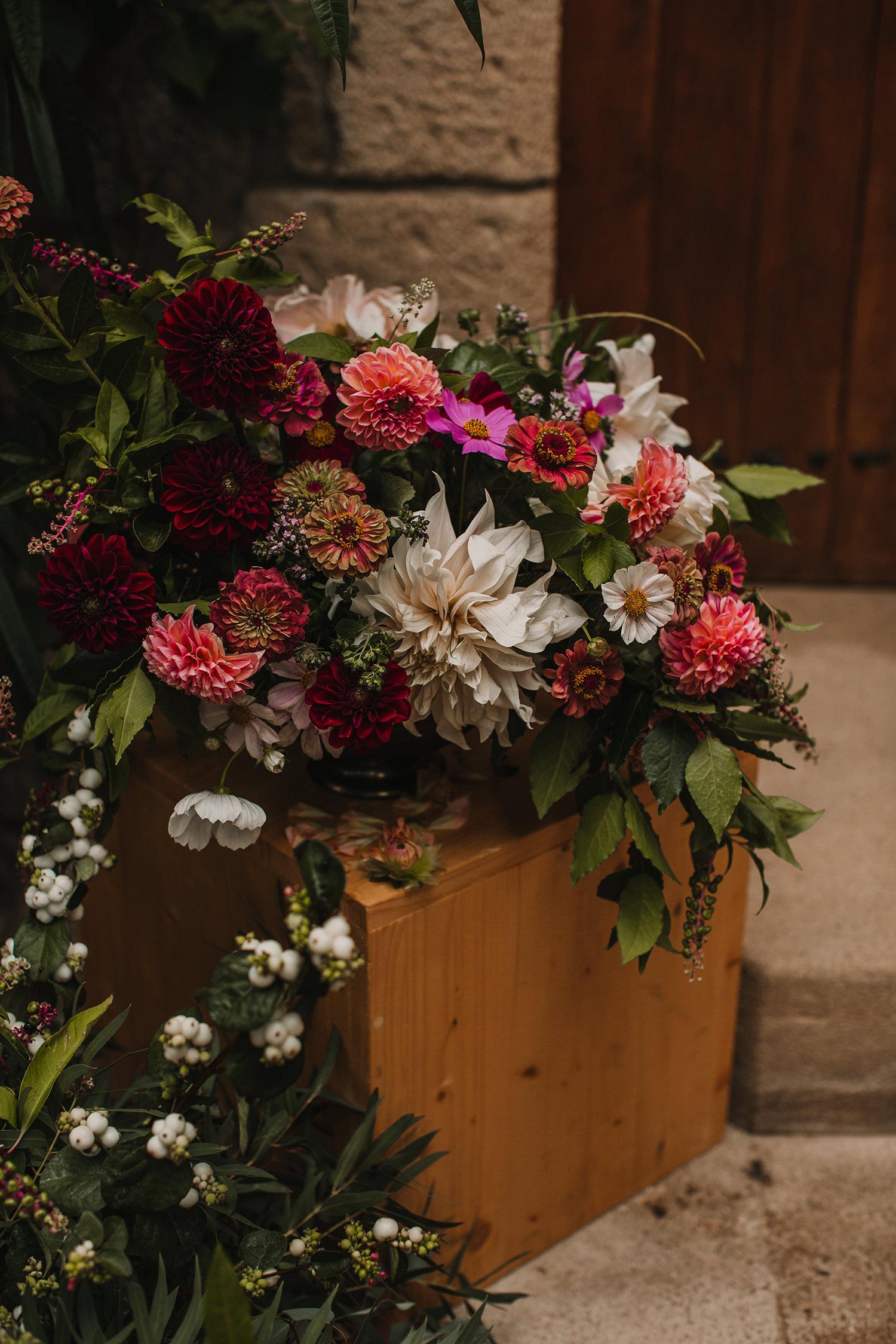 centro floral decoracion boda mas sant llei