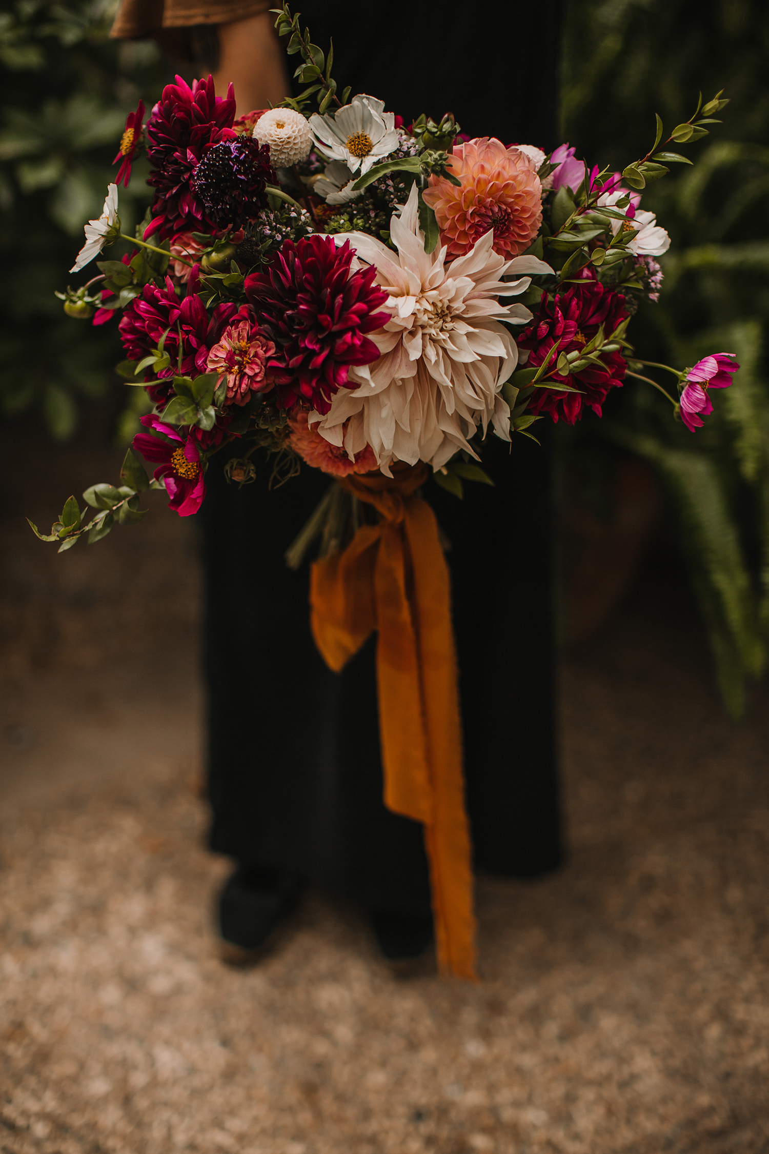 ramo de novia en boda mas sant llei