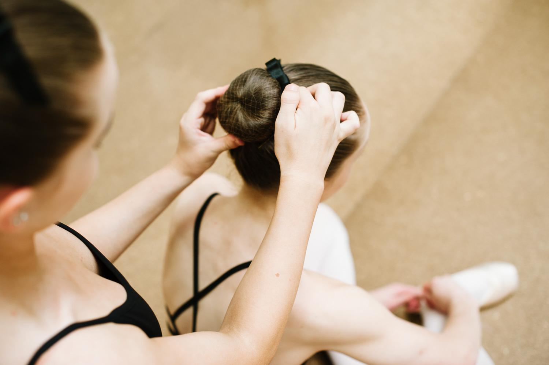 Dance hairstyles bun Mathis Dance Studios