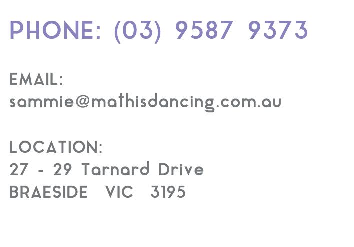 Mathis Dance Studios contact information