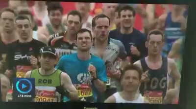 Extensive BBC coverage of my marathon attempt.  I felt like how the face of the man in front of me looked...
