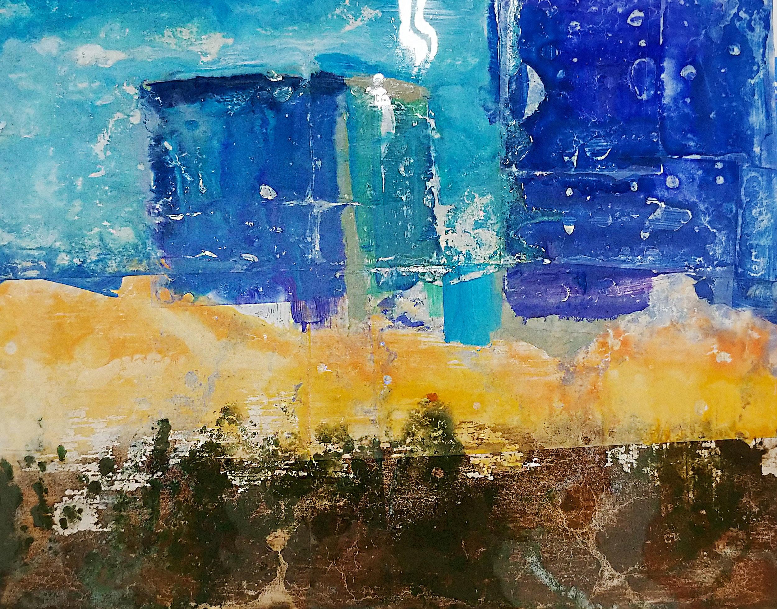 Irvine Blue Mock Resin & Oil 8in x 10in