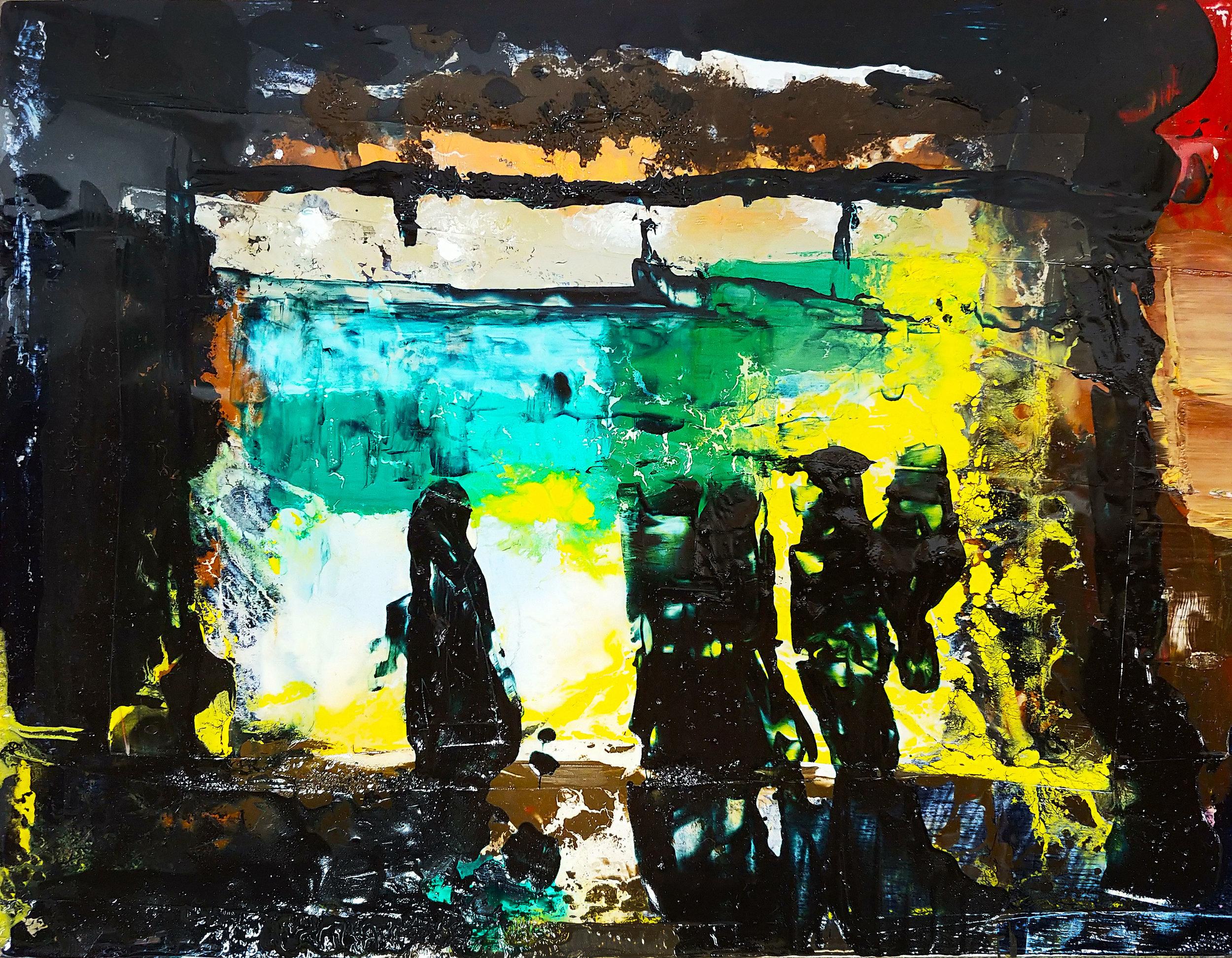 Rain Mock Resin & Oil 11in x 14in