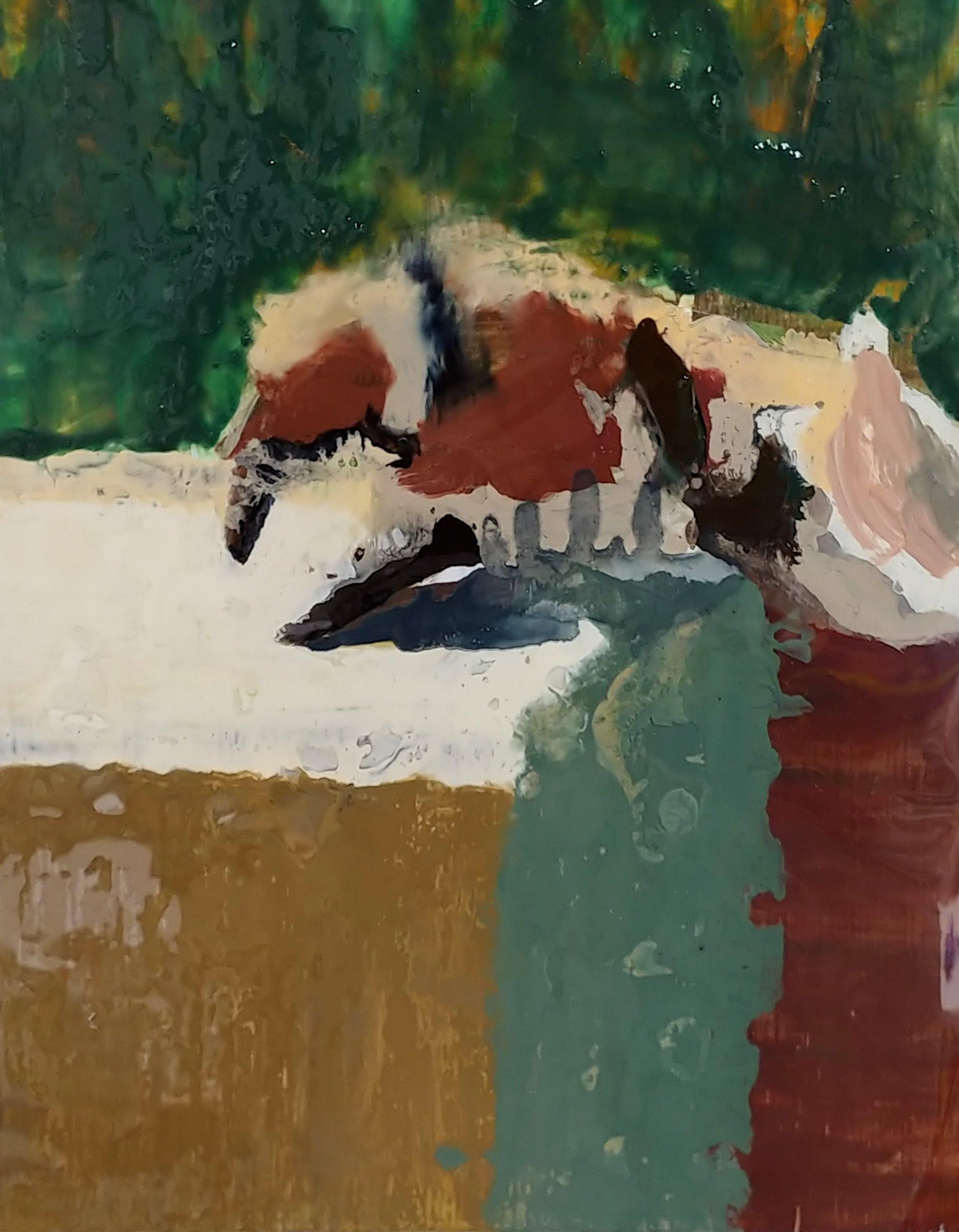 Crab Mock Resin & Oil 10in x 8in
