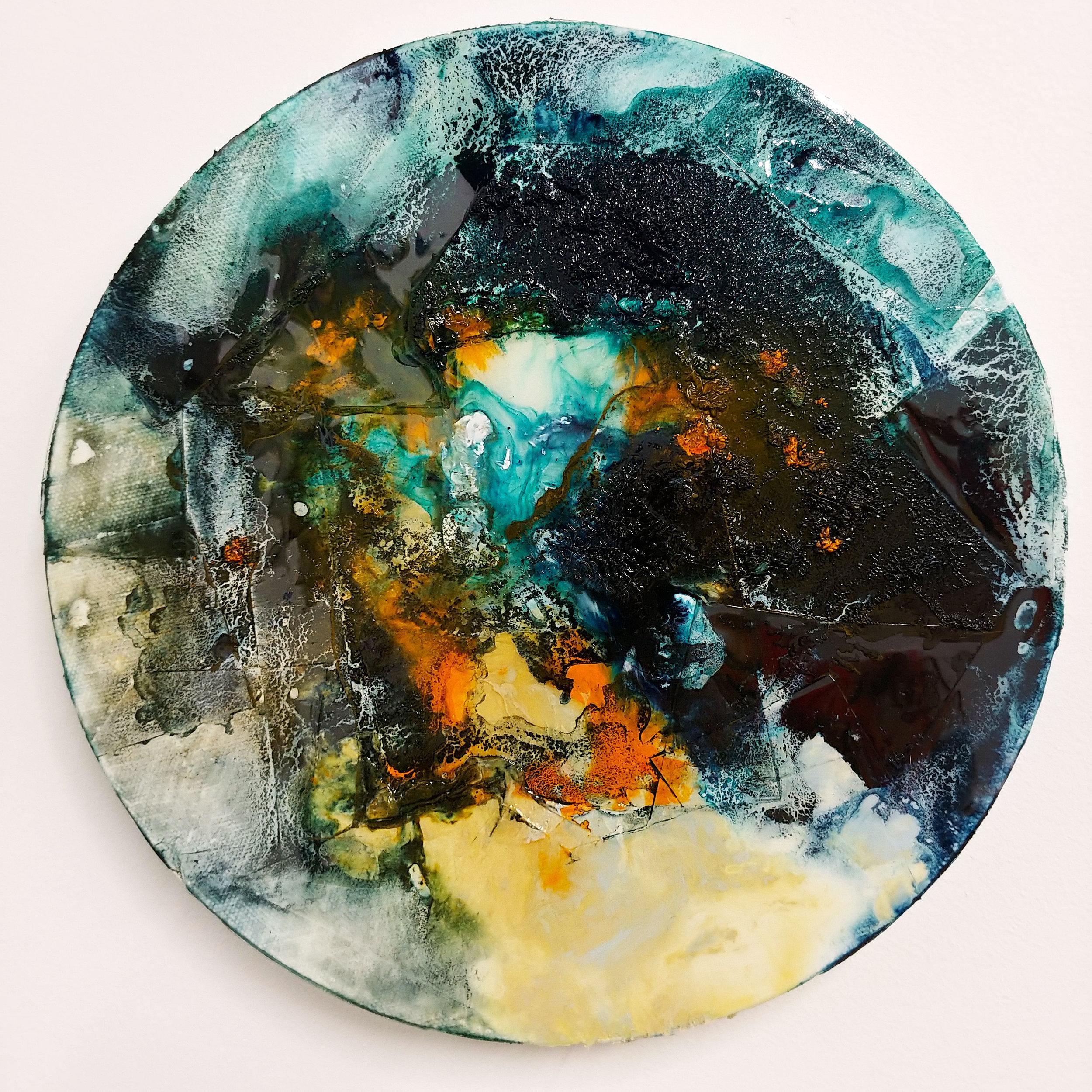World #2 Mock Resin & Oil 10in x 10in