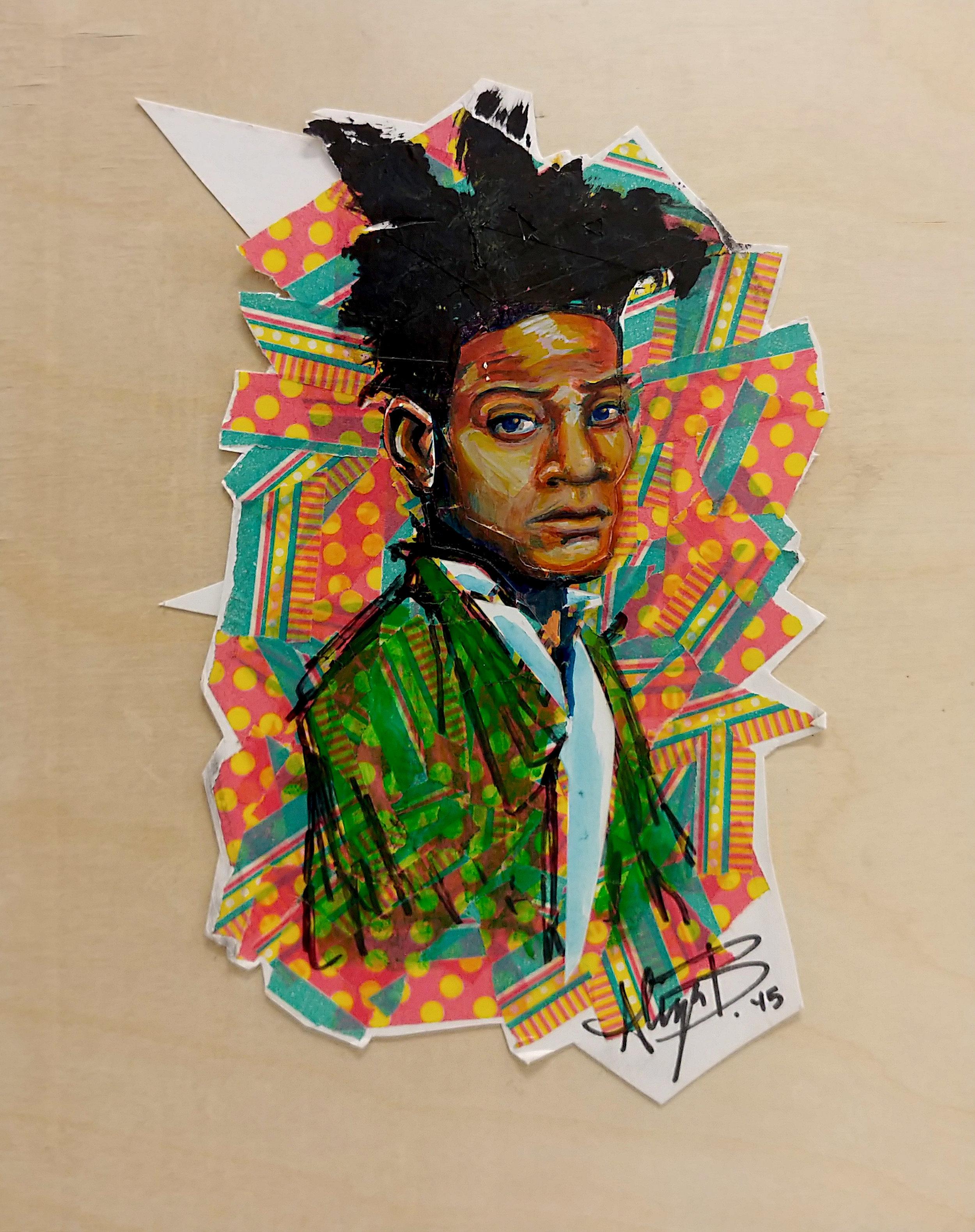 Basquiat Mixed Media 10in x 8in