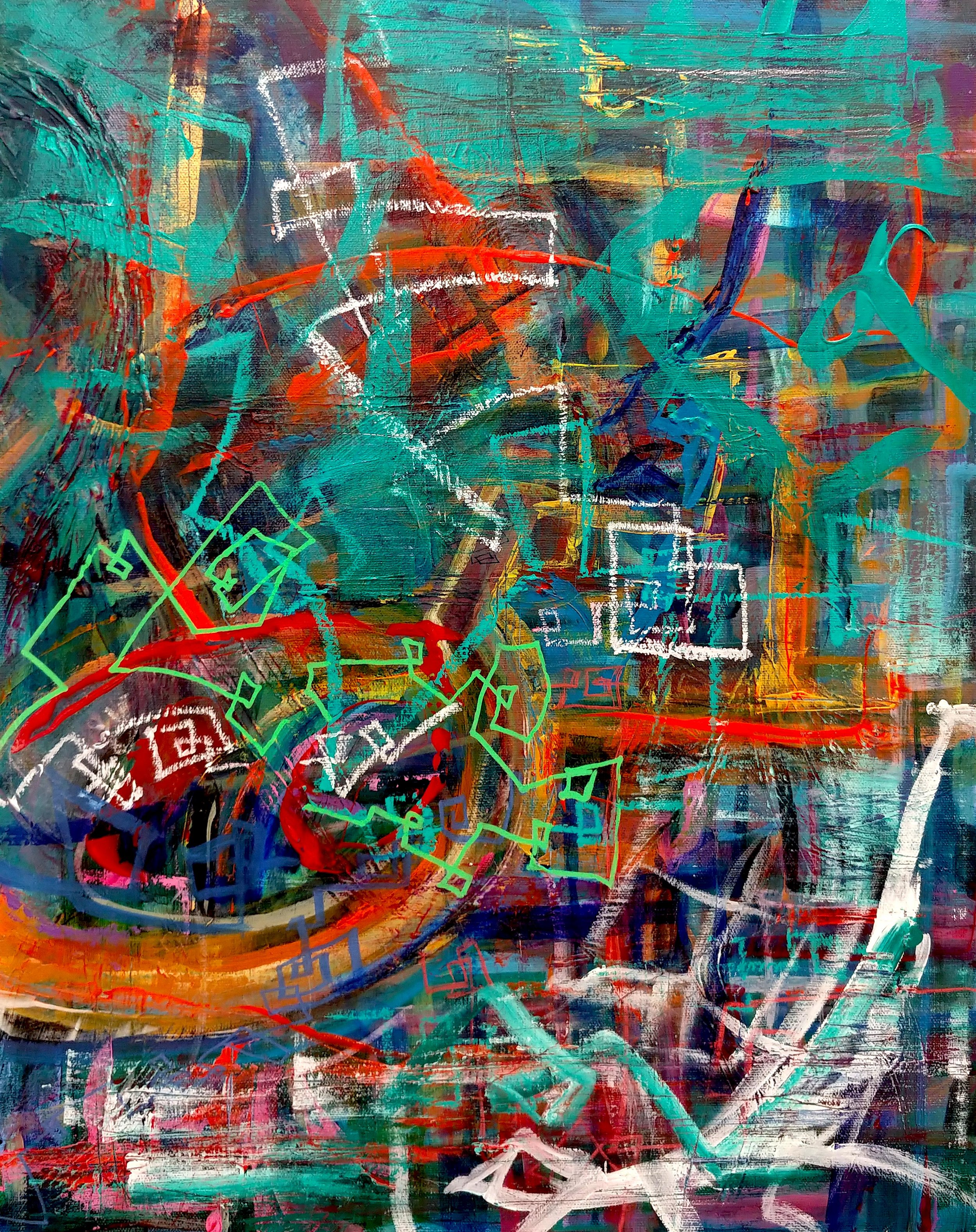 Paths Mixed Media 20in x 16in