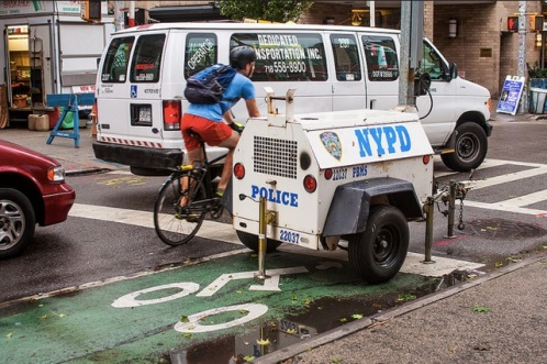 That's a fine for not using the bike lane sonny.