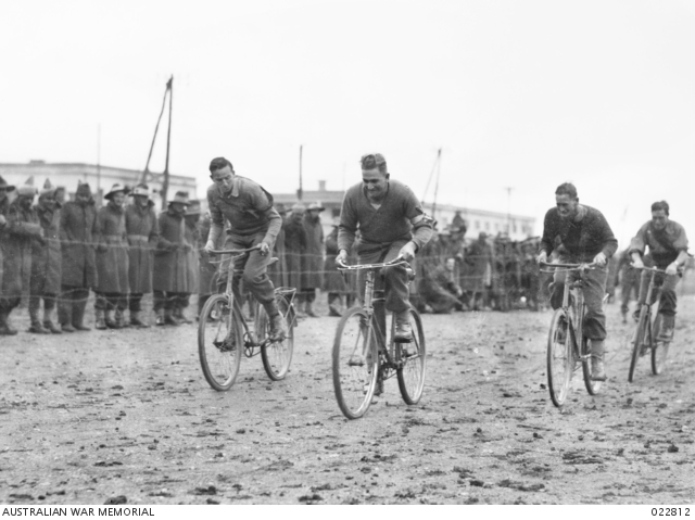 Baalbek Syria 1941; A Sports Carnival to keep the troops entertained;Winner Private Granier;Second place Private Reeves of the 6th Australian Division Concert Party