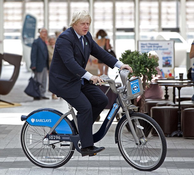 Boris on a Ken bike