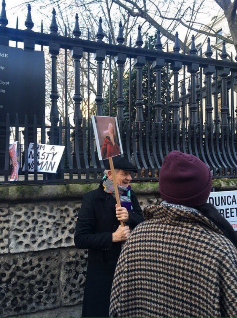 Zoom in on the placard ...