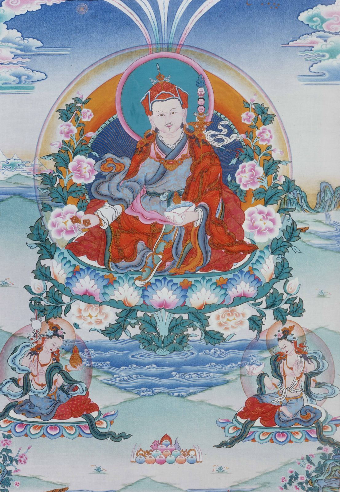 Padmasambhava - the Indian guru famed for bringing Vajrayana Buddhism to Tibet in the eighth century (CE)