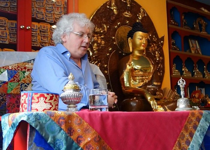 Lama Jampa answers questions at the Sakya Centre, Bristol following teachings on 'Rain of Clarity'