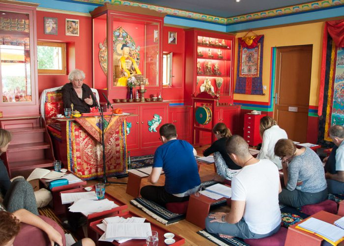 Teaching The Tantra Sets at Sakya Changlochen Ling, Le Bugue, France