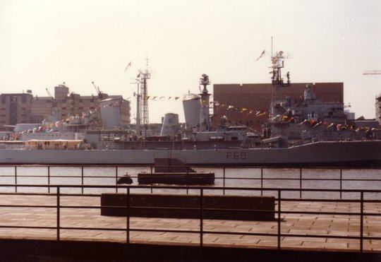 Alongside HMS Belfast