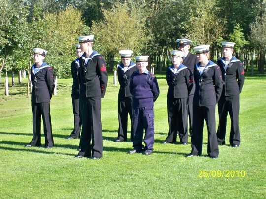 Sea Cadets waiting patiently