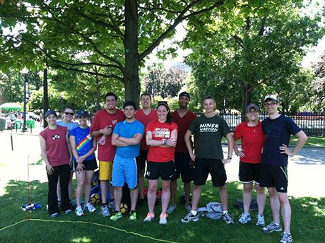 Tchoukball on Boston Common