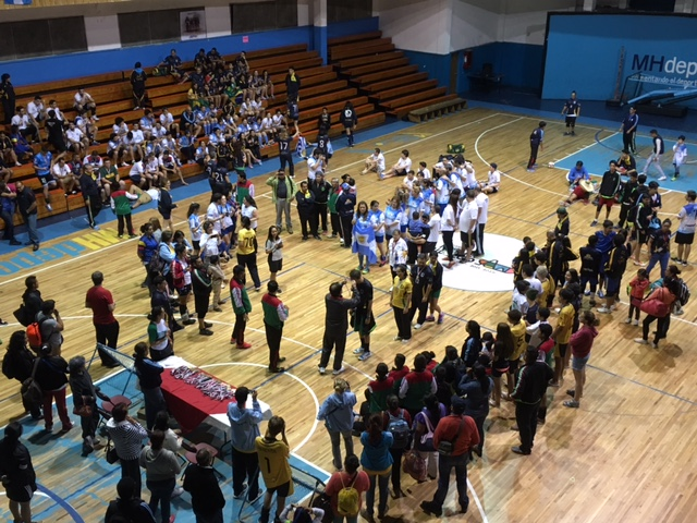 Medal Ceremony for 2016 Pan-American Tchoukball Championship