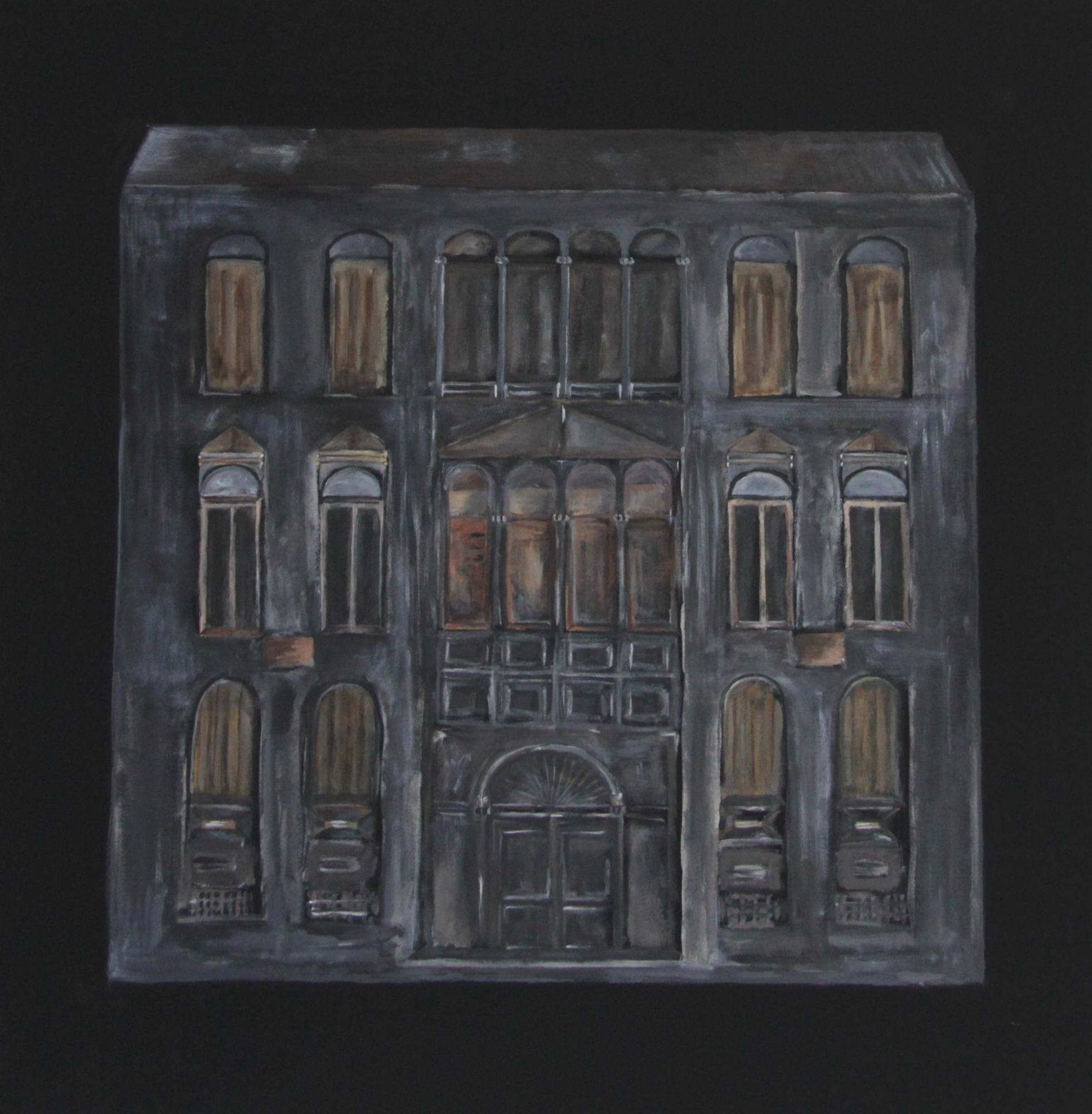 Palazzo  2019, 80 x 80  Acryl auf Leinwand