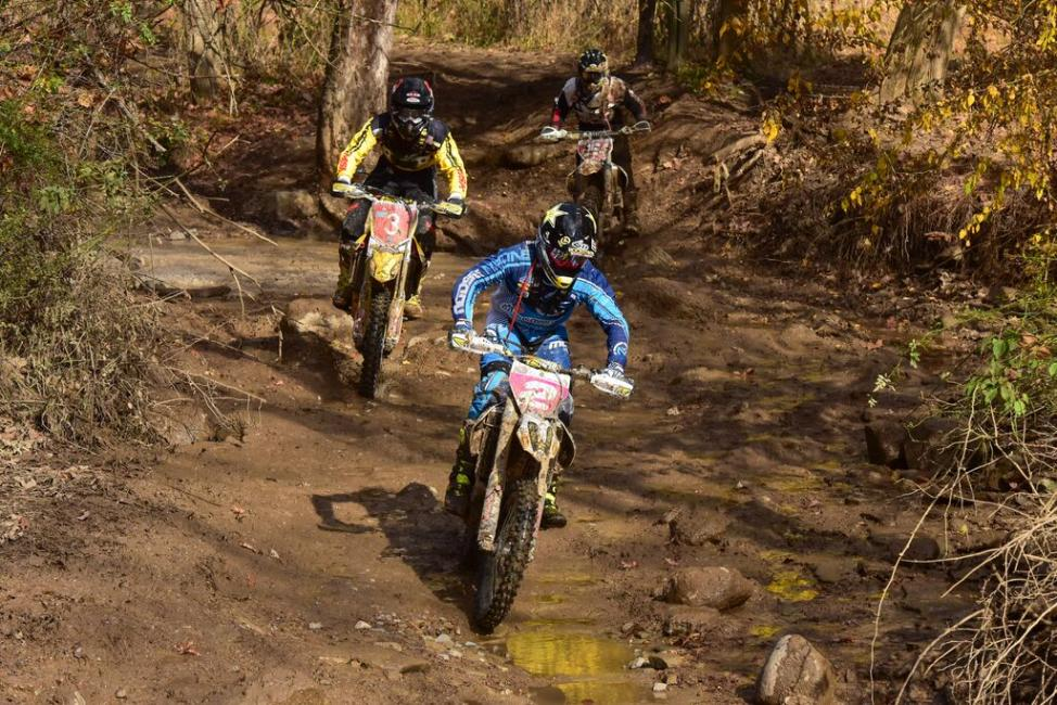 Strang leads the way through the Indiana woods.- Photo: Ken Hill