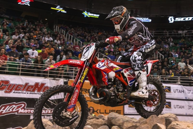 Kyle Redmond will ride two series for 2016. Photo by Drew Ruiz.
