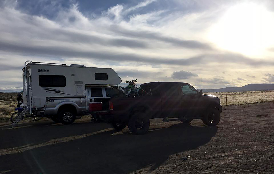 Club members spend their weekends in the desert during the lead-up to the Murphy event.