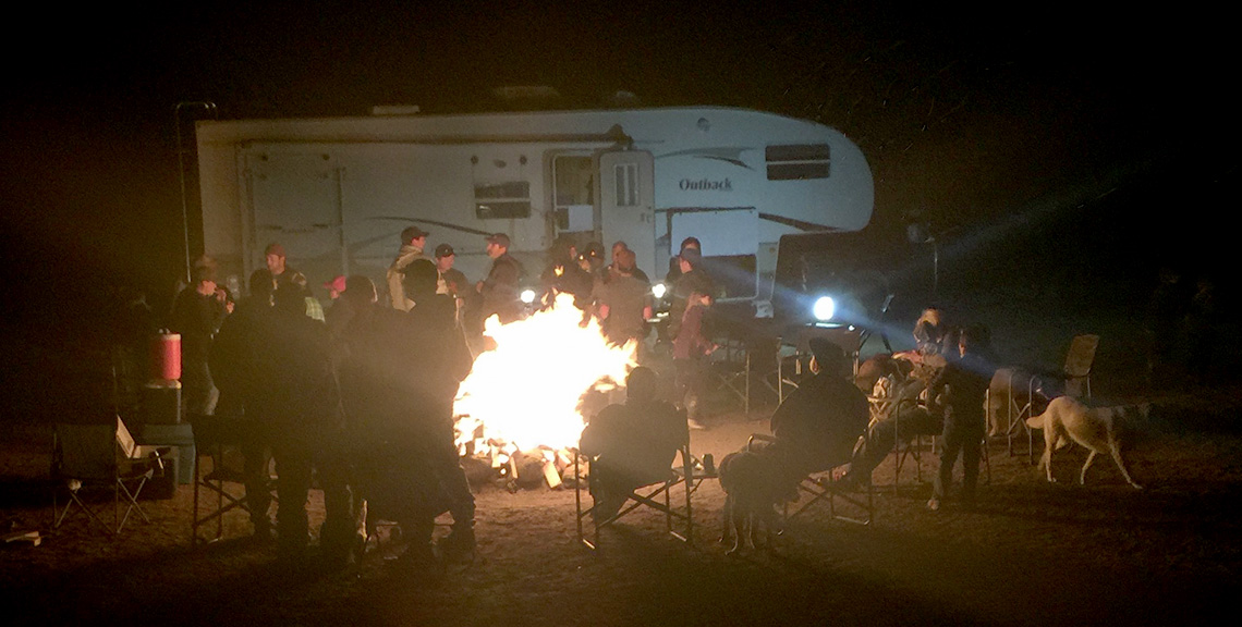 After all the hard work during the day the club makes sure to have fun around the campfire at night.