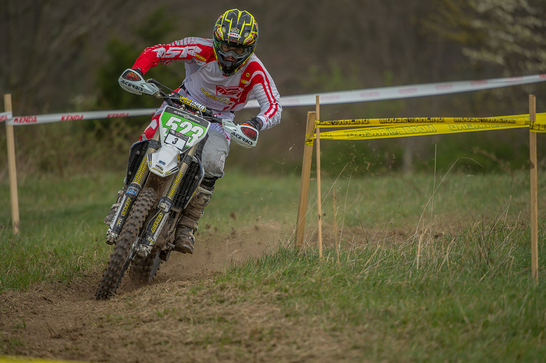 Layne Michael on the way to his first Full Gas win. Photo by Shan Moore.