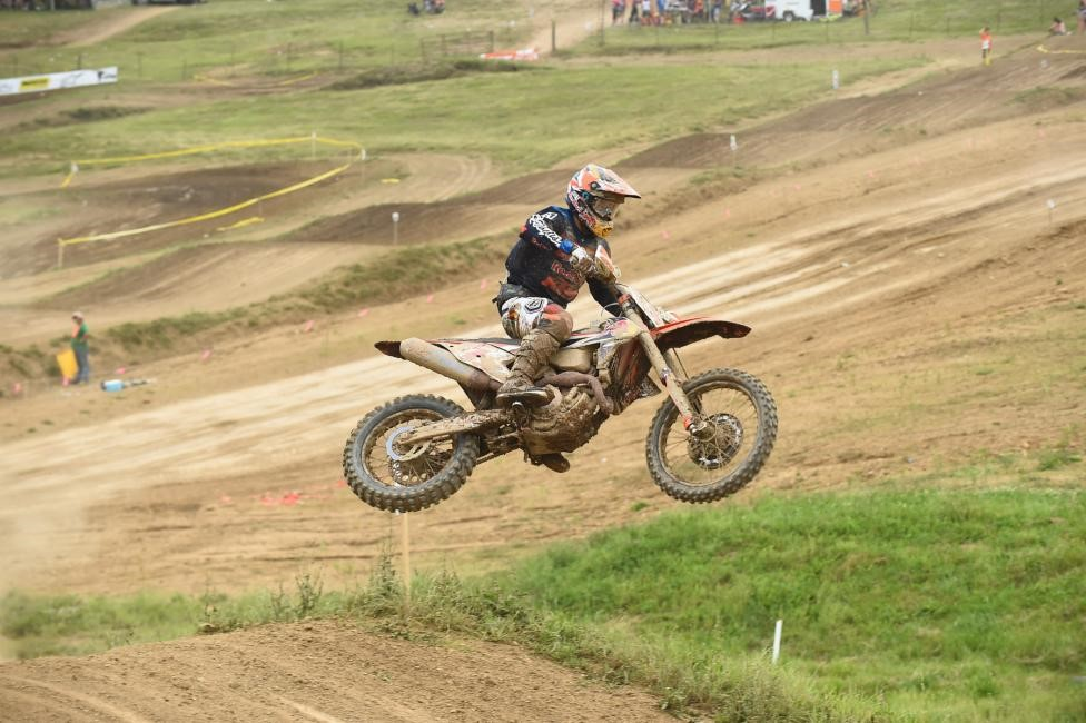 Kailub Russell excelled not only in the woods, but also on the famed Sunday Creek Raceway. Photo: Ken Hill.