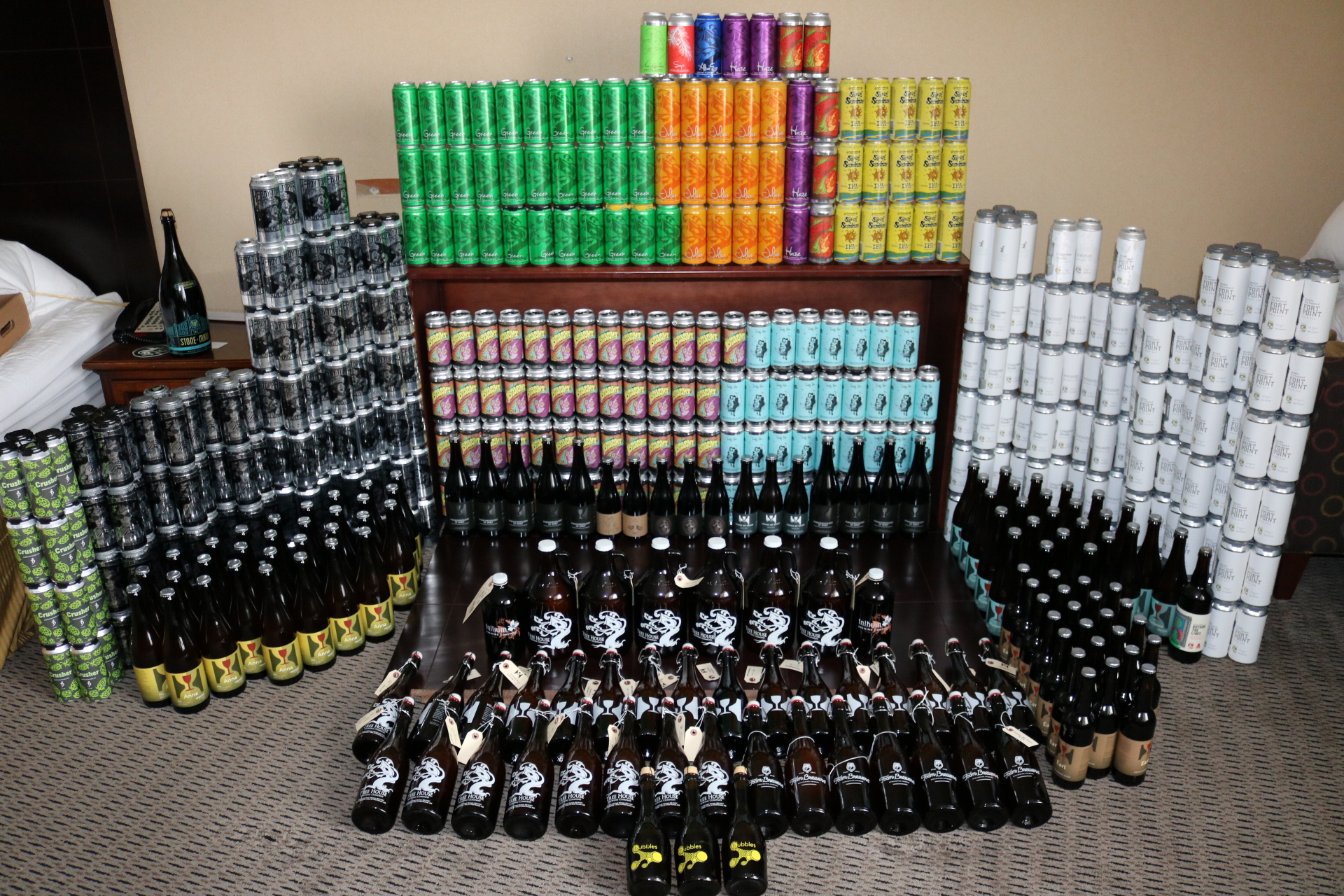 Moto Brew Tour 3 brought home over 500 cans and 200 750ml bottles to share with local craft connoisseurs.