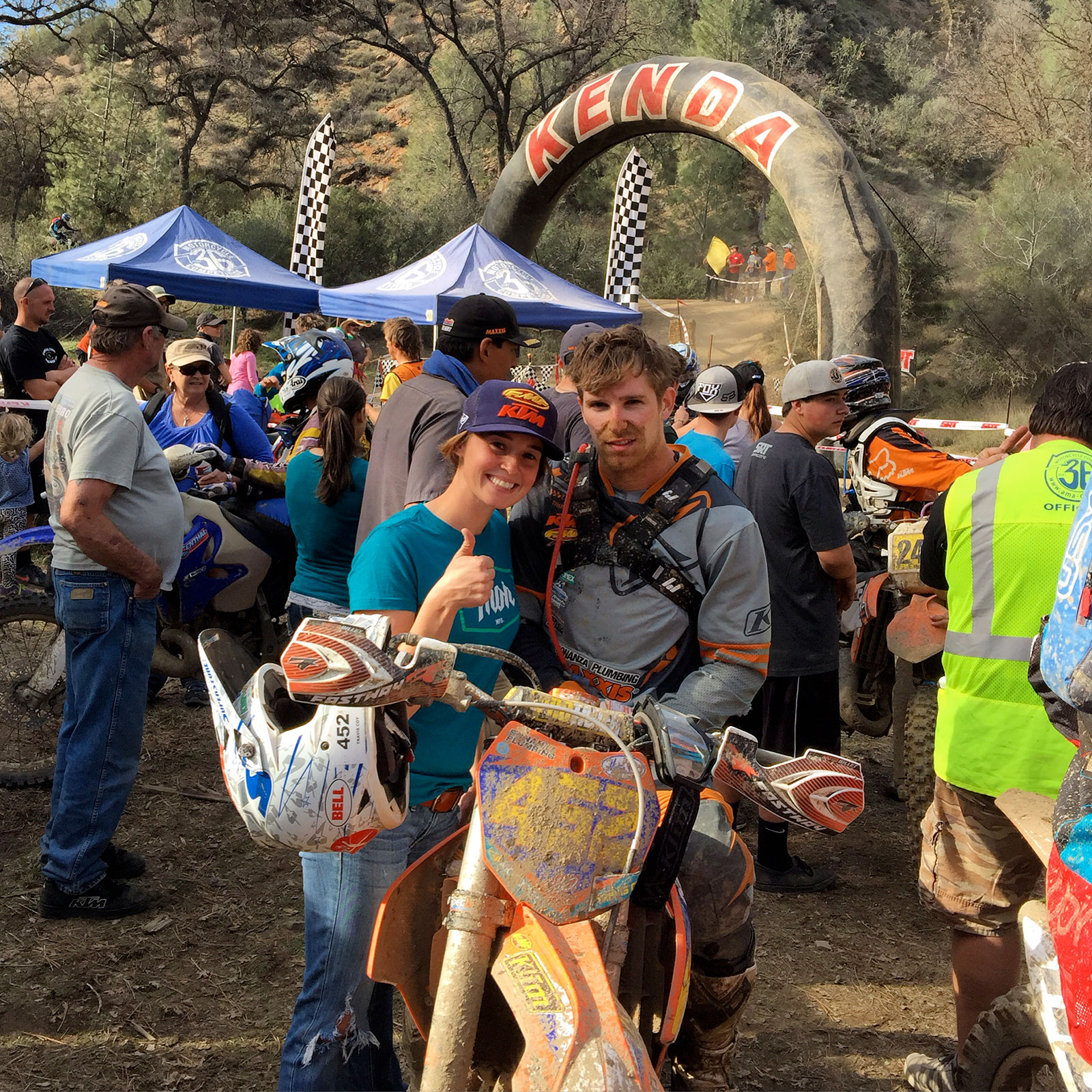 Fast couple: both Kacy and husband Travis Coy race off-road at the highest level and and live the off-road life together by riding, training, and racing as a team. Photo: Kacy Martinez.