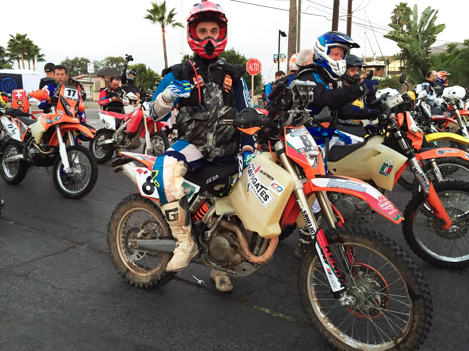 Start of the 2014 Baja Rally in the City of Ensenada