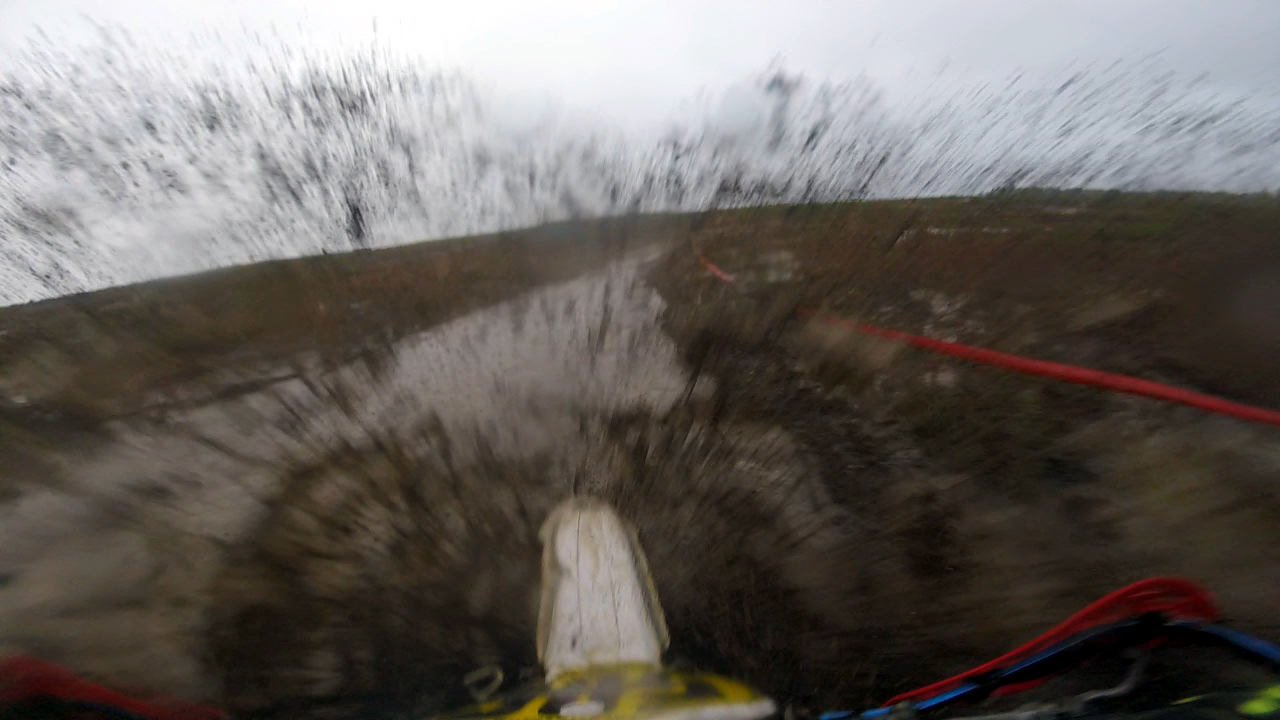 High-speed gorp swapping. Photo: Frank Visone (GoPro still image).
