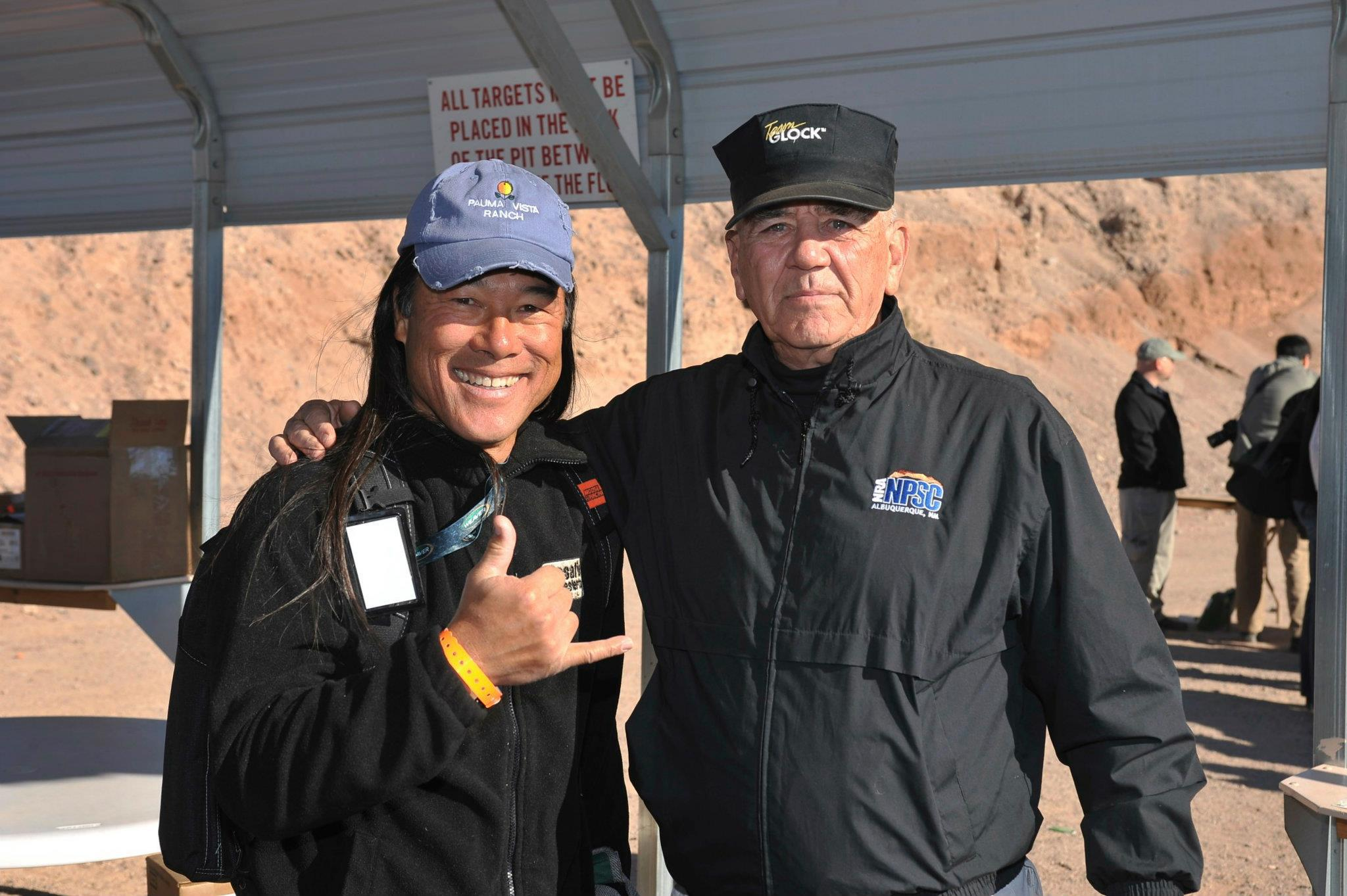 "Kariya at the range with the late R. Lee Emery. Photo by Victor ""Snakemannn"" Wolder."