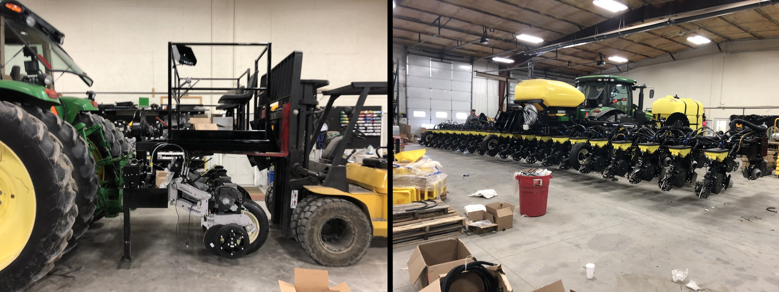 4 Row Specialty Test-Plot Planter with custom fabrication and variable spacing