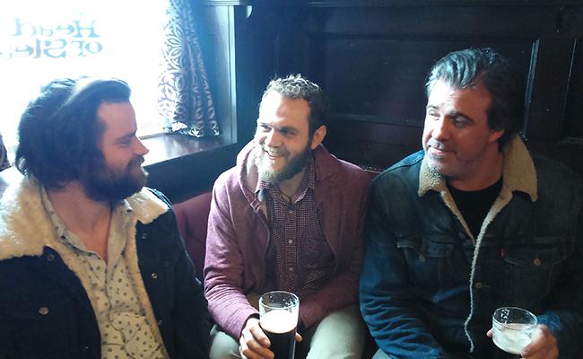 Hyde & Beast enjoying a pint at Sunderland's Dun Cow Pub