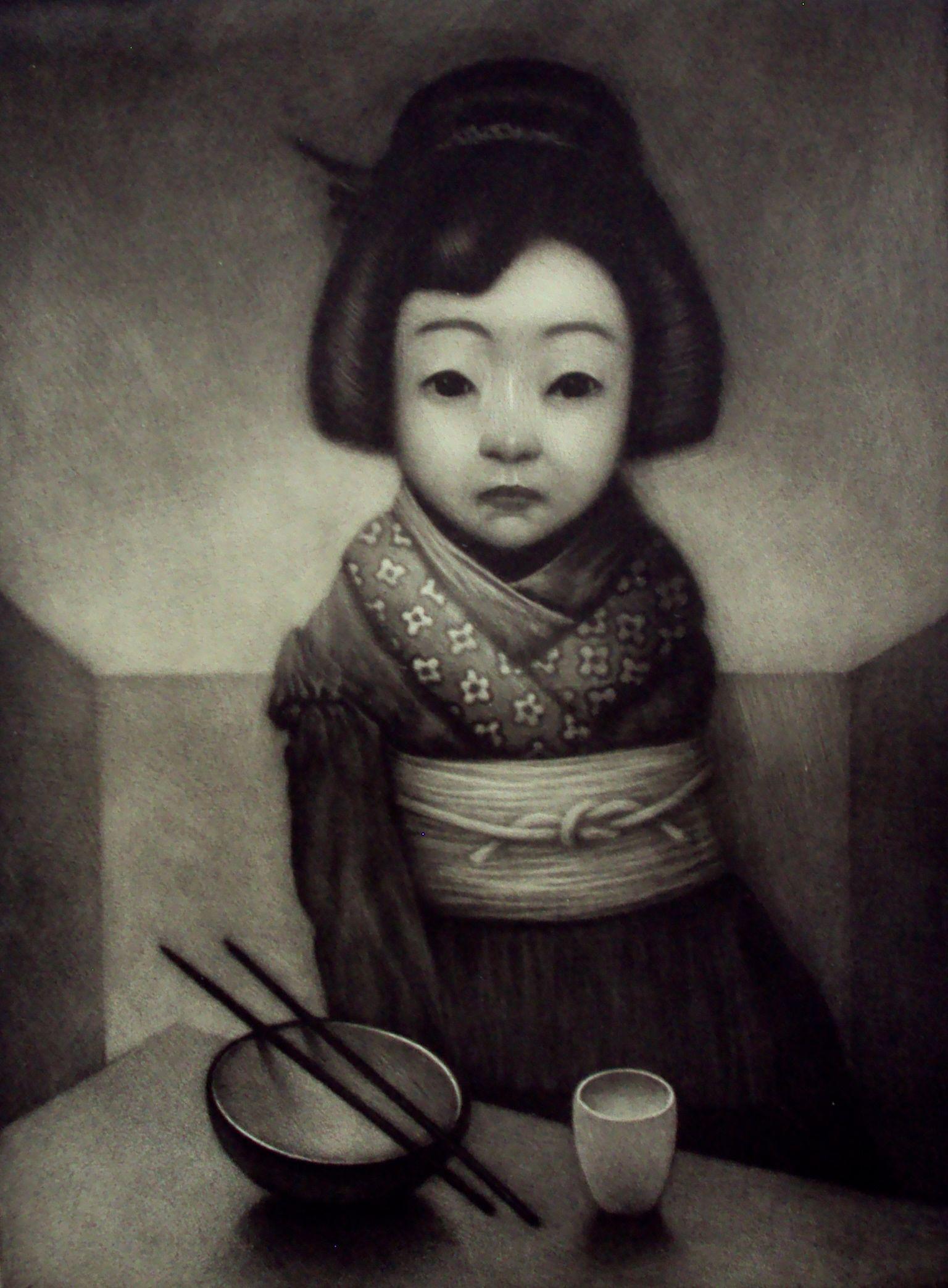 Japansk dukke 45 x 54 cm