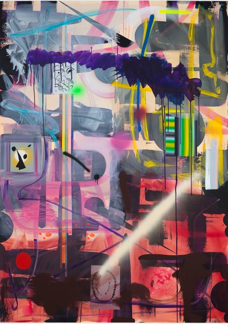 Elegi Acrylic and spray on linnen 268 x 190 cm
