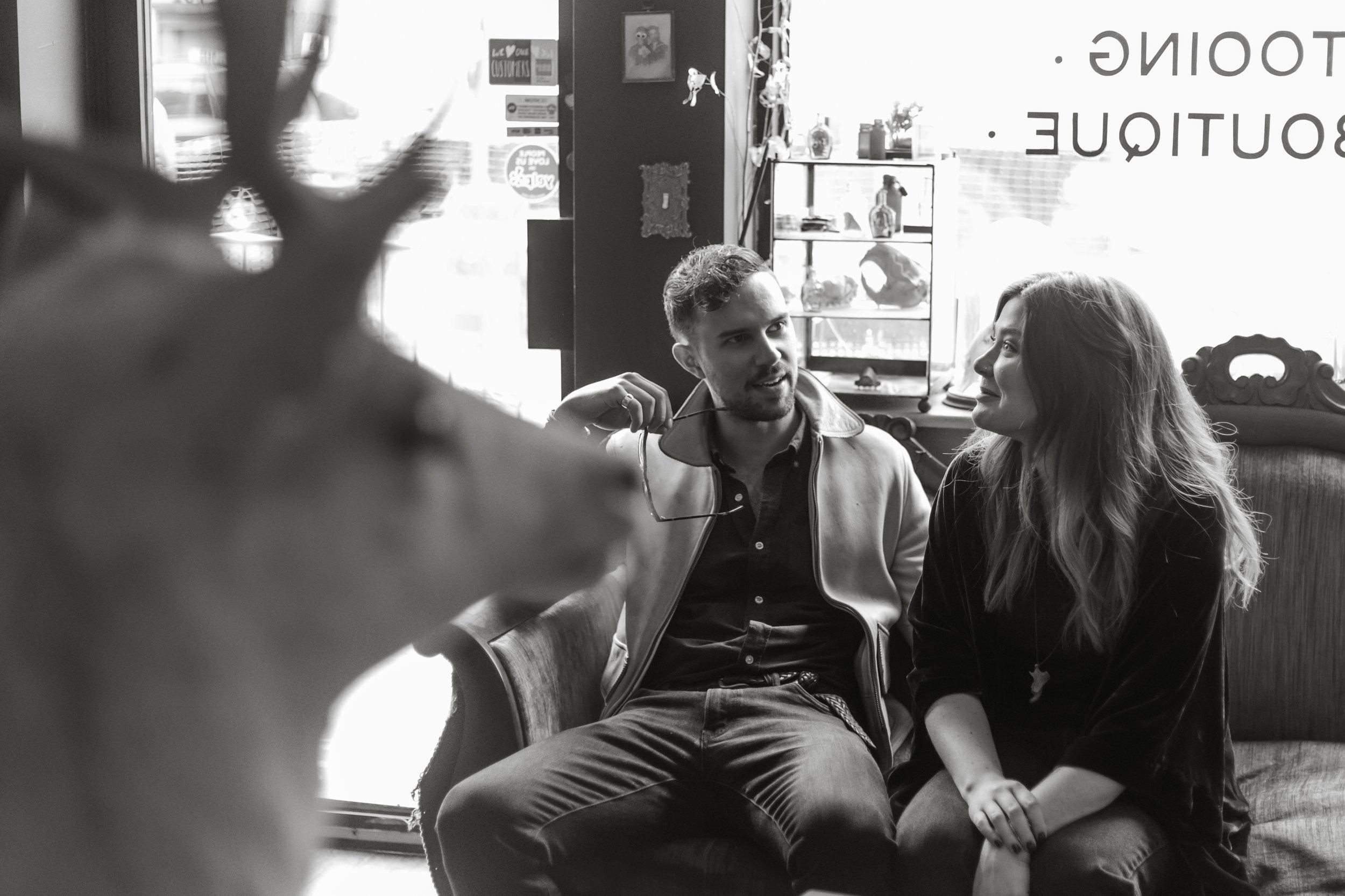 Kate-Alison-Photography-Gowanus-Brooklyn-Tattoo-Oddities-Shop-Engagement-Session